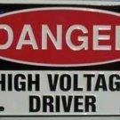 LP-336 Danger - High Voltage Driver License Plate