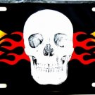 LP-328 Skull and Flame License Plate
