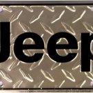 LP-225 Jeep Diamond Plate License Plate