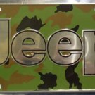LP-188 Jeep Premium Camo Chrome License Plate
