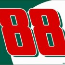 LP-1208 #88 Green and White Background Racing License Plate