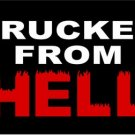 LP-1121 Trucker from HELL License Plate