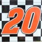 LP-081 Tony Stewart #20 Racing Checkered Flag License Plate