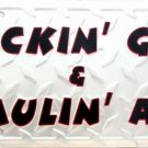 LP-054 Suckin Gas & Haulin' Ass License Plate