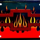 LP-015 Chevy Flame License Plate