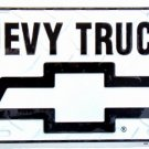 LP-014 Chevy Trucks Bow-tie Silver Diamond Cut License Plate