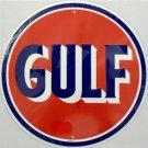 C-037 Gulf Gasoline Logo Emblem Circular Circle Round Sign