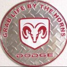 C-022 Dodge Logo Emblem Circular Circle Round Sign