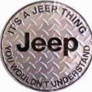 C-021 Jeep Circular Circle Round Sign