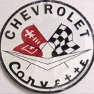 C-006 Corvette Flag Logo Circular Circle Round Sign