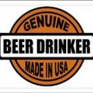 LP-1228 Genuine Beer Drinker Made in USA License Plate
