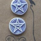 Pentacle Ceramic Buttons