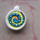 Hand Painted Spiral Pendant