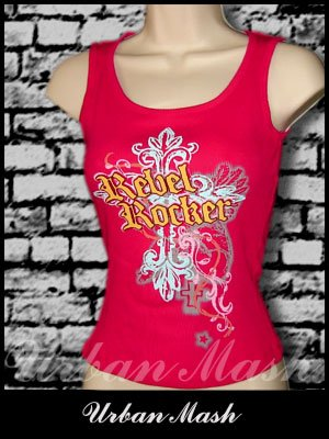 Juniors REBEL ROCKER Tank Top - size medium - TMR0017