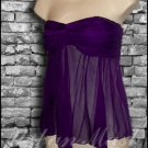 Seductive Pure Silk Tube Top by Rubber Ducky - size large - TLP0001