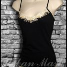 Aziz Tank Style Bra Top with Lace - size large - TLBK0015