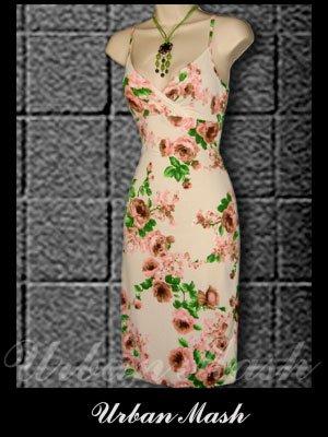 Casa Lee Gorgeous Floral Print Summer Dress - size large - DLBG0004