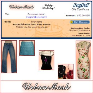 Birthday Gift Certificate $25 - Urban Mash Boutique - Apparel & Accessories