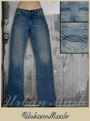 Abercrombie & Fitch Low Rise Flare Distressed Jeans - size 0 - P0B0001