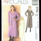 McCalls Pattern 3763 Cardigan Dresses Sweaters Size XS Sm Med