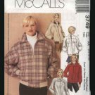 McCall's Sewing Pattern 3749 lined jackets Size 6 - 12