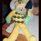 Bumble Bee Gardener Teddy Bear