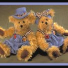 Russ Mohair Teddy Bears Winifred and Jimbles RARE NWT