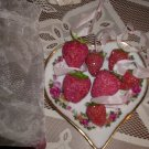 Shabby Romantic Glitter Berries Organza Bag Midwest Seasons of Cannon Falls