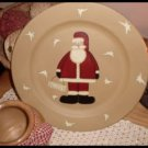 Country Primitive Wood Plate Rustic Santa Believe Hearthside Collection
