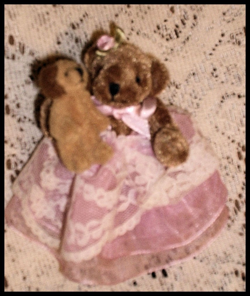 Delton Victorian Princess Miniature Teddy Bear With Puppy