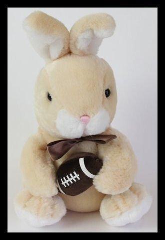 Dan Dee Football Bunny Cream Rabbit Plush  4832 38-A