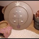 Country Prim Wood Plate Tree With Snowmen Donna White