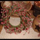 Country Prim Wreath Red Pip Berries