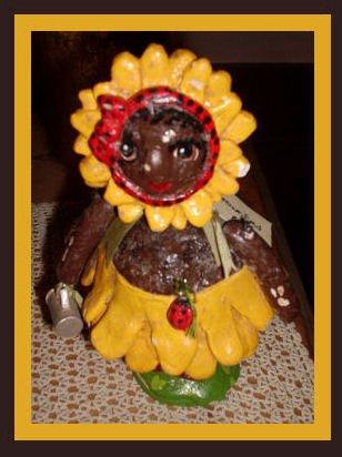 Penny McAllister Brown Eyed Susan Petal Girl Figurine Rare
