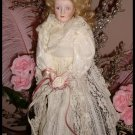 Victorian Romantic Shabby Lace Doll Pink Roses