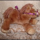 Commonwealth Horse Brown Purple Rose Reins