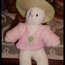 World Bazaar Shabby Sock Knit Bunny Rabbit Plush Pink Jacket