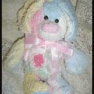 Shabby Style Pink Chenille Bunny Rabbit Pastel Colors Chic