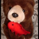 OMega Toy Grizzly Bear With Red Fish in Mouth