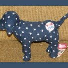 7&quot; Victorias Secret Blue Vote for Pink Dog White Stars Stuffed Animal Plush MWT