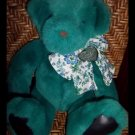 1992 Victorias Secret Gund Bear Plush Floral Bow Emerald Green New With Tags