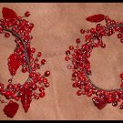 Red Glass Berries and Leaves Candle Wraps Lovely