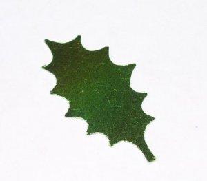 Holly Leaves - Green Metallic
