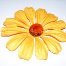 Marbled Daisies – Apricot & Amber - Large
