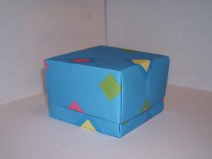 Origami boxes � Small - Blue Geo Shapes