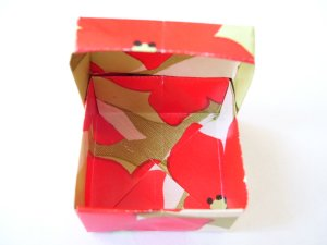 Origami boxes � Mini - Flowered Square