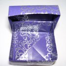 Origami boxes – Medium - Purple & Silver Square