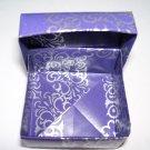 Origami boxes – Medium - Purple & Silver Square