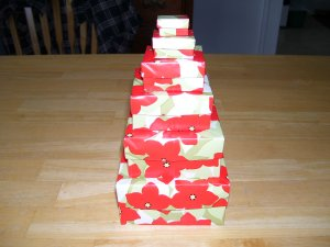 Origami boxes � Nested Flowered Squares