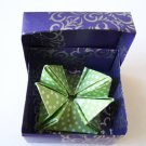 Origami Objects - Sea Anemone inside Medium Purple & Silver Box